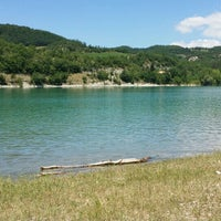 Photo taken at Lago di Fiastra by Claudia P. on 7/17/2016