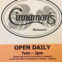 Photo taken at Cinnamon's Restaurant by Malia H. on 6/17/2013