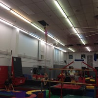 Photo taken at Dynamite Gymnastics Center by Alysoun M. on 10/29/2013