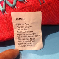 Photo taken at Niketown SF Run Club by Mark N. on 4/10/2014