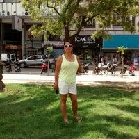 Photo taken at Plaza Rivadavia by Erika P. on 2/3/2015