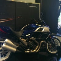 Photo taken at Ducati Triumph New York by 3Scribbles on 6/21/2013
