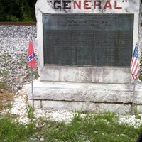 """Photo taken at Locomotive """"General"""" Historical Marker by Becky J. on 7/11/2013"""