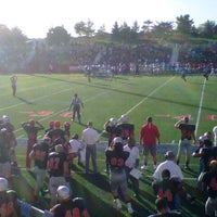 Photo taken at Kenneth P. LaValle Stadium by Charlie A. on 10/20/2012