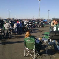 Photo taken at Meadowlands Parking Lot by Vikki S. on 12/24/2011