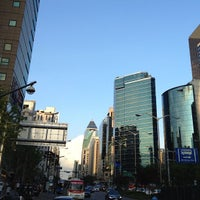 Photo taken at Gangnam Stn. by youp H. on 7/30/2012