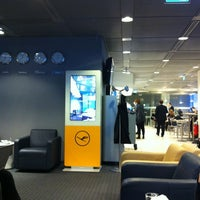 Photo taken at Lufthansa Business Lounge by Baris A. on 3/29/2012