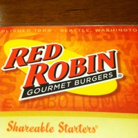 Photo taken at Red Robin Gourmet Burgers by Jeanette B. on 4/15/2012
