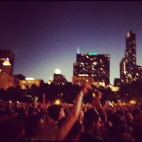 Photo taken at Lollapalooza Bud Light Stage by Amy B. on 8/6/2012
