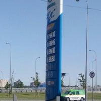 Photo taken at Газпромнефть АЗС № 1 by Klodia L. on 5/24/2016