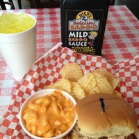 Photo taken at Dick's Bodacious BBQ by Eric S. on 10/1/2012