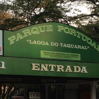 Photo taken at Parque Portugal - Lagoa do Taquaral by Fabio P. on 8/6/2013