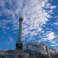Photo taken at Place de la Bastille by Parisian Geek on 12/15/2013