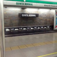 Photo taken at Metro Quinta Normal by Jorge K. on 12/23/2012