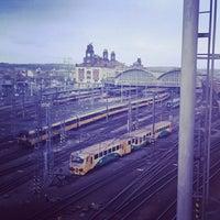 Photo taken at Prague Main Railway Station by Nikolia D. on 4/7/2013