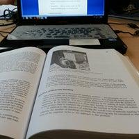 Photo taken at Library BINUS University by Monica L. on 5/8/2014
