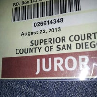 Photo taken at Superior Court of California, County of San Diego by Nanc D. on 8/23/2013