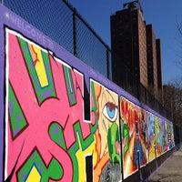 Photo taken at Graffiti Hall Of Fame by James Tristan R. on 5/31/2015