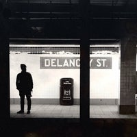 Photo taken at MTA Subway - Delancey St/Essex St (F/J/M/Z) by Michael M. on 4/12/2013