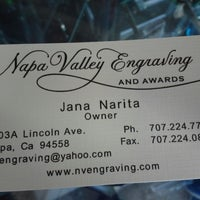 Photo taken at Napa Valley Engraving by Coach B. on 1/3/2014