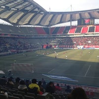 Photo taken at Seoul Worldcup Stadium by Borang K. on 3/2/2013