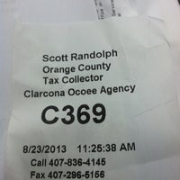 Photo taken at Orange County Tax Collector - Clarcona location by Keyser S. on 8/23/2013