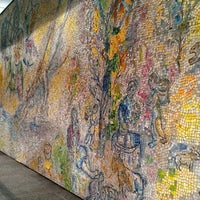"""Photo taken at Chagall Mosaic, """"The Four Seasons"""" by Amanda A. on 6/14/2013"""