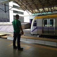 Photo taken at LRT 2 (Araneta Center-Cubao Station) by Ujin A. on 2/14/2013