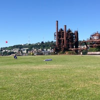 Photo taken at Gas Works Park by Vanessa A. on 6/30/2013