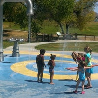 Photo taken at Lake Skinner Splash Pad by Tiffiny G. on 4/10/2013