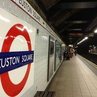 Photo taken at Euston Square London Underground Station by Tomomi on 9/16/2013