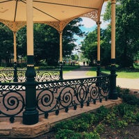 Photo taken at Exhibition Park by Dragos B. on 6/25/2015