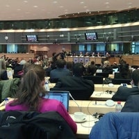 Photo taken at European Parliament Meeting Room JAN 2Q2 by Marina B. on 3/31/2014