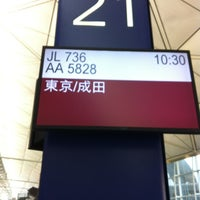 Photo taken at Gate 21 by Chihiro A. on 12/27/2012