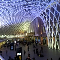 Photo taken at London King's Cross Railway Station (KGX) by Jorge R. on 10/20/2013