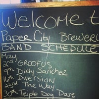 Photo taken at Paper City Brewery by Christopher M. on 5/15/2014