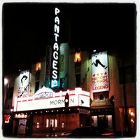 Photo taken at Pantages Theatre by Jean K. on 10/24/2012