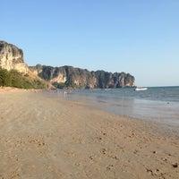 Photo taken at Ao Nang Beach by Pia T. on 2/28/2014