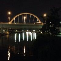 Photo taken at Bridge @ Punggol Walk by Rick on 11/17/2013