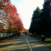 Photo taken at Green Lake Loop by Kate K. on 11/10/2012