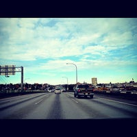 Photo taken at Ship Canal Bridge by Kate K. on 11/8/2012
