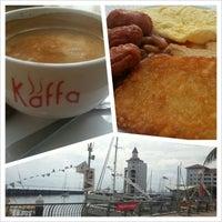 Photo taken at Kaffa Kafe by Tony on 11/21/2012