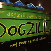Photo taken at Dogzilla Hot Dogs Truck by Matthew L. on 4/12/2013
