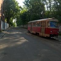 Photo taken at Трамвайна станція «Семена Скляренка»/Semena Skl'arenko tram station by Eugene F. on 5/5/2016