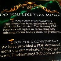 Photo taken at The Bombay Club by Scott K. on 12/31/2012