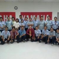 Photo taken at Yamaha Indonesia Motor Manufacturing by Albert K. on 4/15/2014