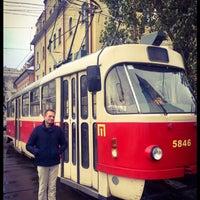 Photo taken at Трамвайна станція «Семена Скляренка»/Semena Skl'arenko tram station by Dominiek L. on 11/18/2016