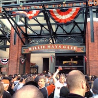 Photo taken at Willie Mays Gate by Corey D. on 10/25/2012