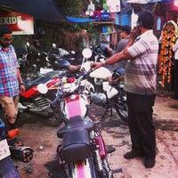 Photo taken at Mario's bike garage by Manoj N. on 1/21/2014