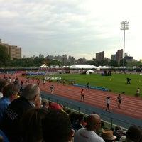 Photo taken at Icahn Stadium by Margaret A. on 6/9/2012
